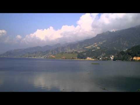The lake in Pokhara Nepal