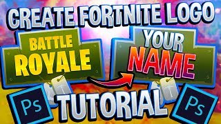 Fortnite Tutorial: How to Remove Text from Logo | Photoshop