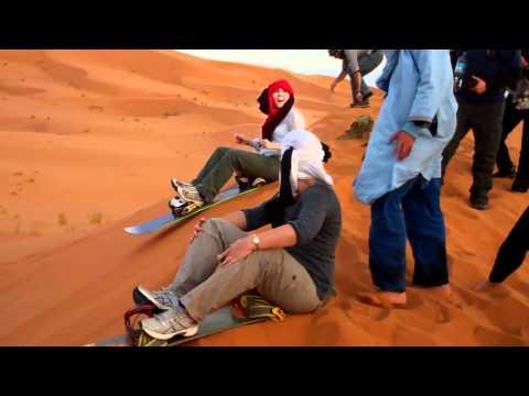 Get Rid Of Me winners Team Kevan sandboarding in Morocco