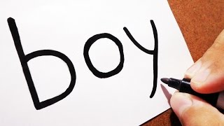 👦 Como transformar a palavra BOY em um Garoto | TRUQUES EM DESENHOS