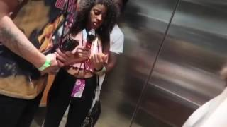 Mega McQueen gets into a fight in elevator at Vidcon.