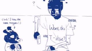 Error!Sans X Ink!Sans X PaperJam - comics