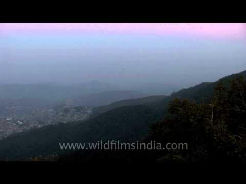 Panaroma of Kohima from Jotsoma Hill top