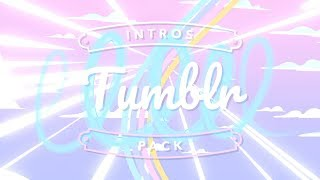 TUMBLR INTROS TEMPLATES PACK (NO TEXT)