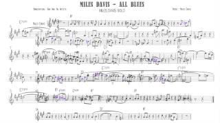 ★☆☆☆☆ Miles Davis - All Blues - Trumpet solo