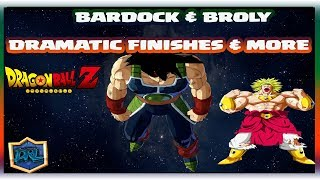 BARDOCK & BROLY DRAMATIC FINISHES & MORE | Dragon Ball FighterZ DLC