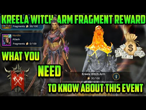 Important New Fragment Information on Kreela Witch-Arm I Raid Shadow Legends