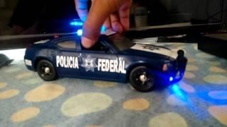 Patrulla federal 1/24  con sonido real y leds