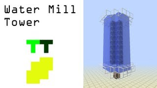 Beginner's Feed The Beast Tutorial - Water Mill Tower (IndustrialCraft)
