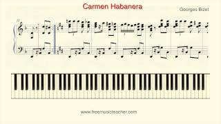 "How To Play Piano: Georges Bizet ""Carmen Habanera"" Piano Tutorial by Ramin Yousefi"