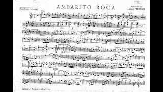 Amparito Roca pasodoble  partitura saxo tenor