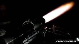 Military Jet EngineTest F414 / 50CAL Machine Gun Demo.