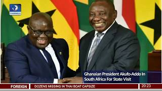Ghanaian President Akufo Addo In S.Africa For State Visit