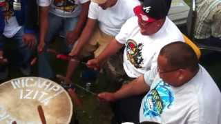 MNX Live at 2013 Alexis Nakoda Sioux Nation Pow wow .. Sunday Grand Entry 3nd Song