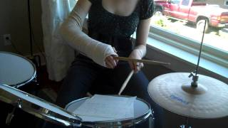 drumming in a cast