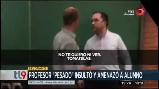 """Profesor """"pesado"""" insultó y amenazó a alumno"""
