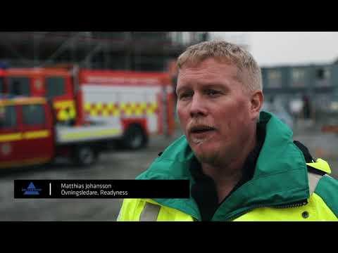 Erlandsson Bygg - Räddningsövning i Vänersborg