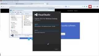 Download & Install Microsoft Visual Studio Express 2013 for Desktop width=