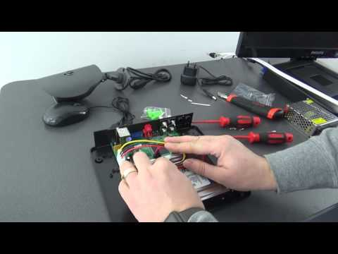 Instalare si setare kit supraveghere cu 4 camere video pentru exterior