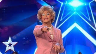 Singing Sheila gives a BONZER performance! | Auditions | BGT 2019
