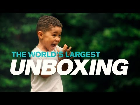 Volvo Trucks - World?s largest unboxing starring 3-year-old Joel (The new Volvo VNL)