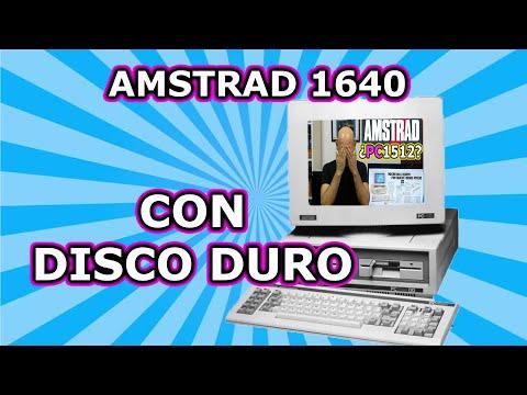 AMSTRAD 1640 CON DISCO DURO. ECHAMOS UN VISTAZO