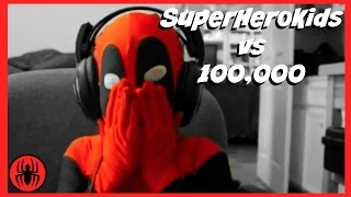 SuperHeroKids vs 100,000 kids w/ Batman, Spiderman, Supergirl, Pink Girlpool fun in real life comics