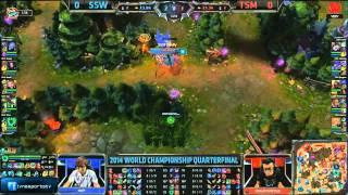 LMHT [03-10-2014]  SSW vs TSM - Chung Kết Thế Giới Mùa 4 - Tứ Kết 1 - Trận 1