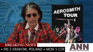 "Aerosmith 2017 - ""AERO-VEDERCI BABY"" THE 2017 EUROPEAN FAREWELL TOUR - ANNOUNCEMENT"