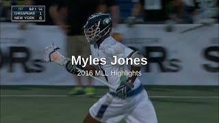 Myles Jones 2016 MLL Highlights