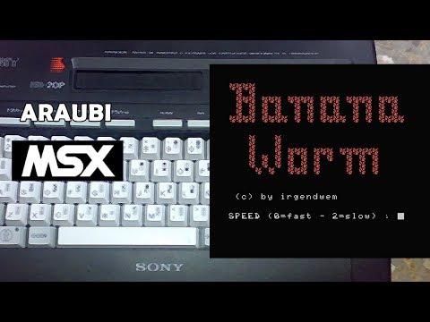 Banana Worm (Irgendwem, 1986) MSX [223] Walkthrough Comentado