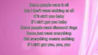 Alicia Keys - If I Ain't Got You, Lyrics In Video