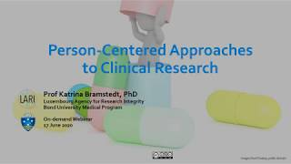 Person-Centered Approaches to Clinical Research