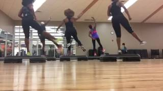 Step Aerobics routine taught by Dionne who teach LA Fitness Pleasant Hill Rd.