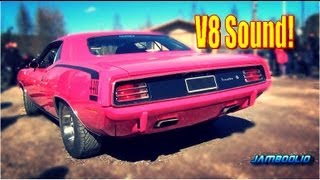 LOUD and PINK! 1970 Plymouth Cuda 440 - V8 sound!