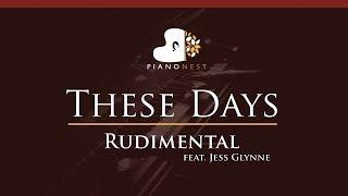 Rudimental - These Days feat. Jess Glynne - HIGHER Key (Piano Karaoke / Sing Along)