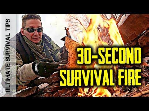 Survival QUICK Tip #5 -  Winter Birch Bark Survival Fire
