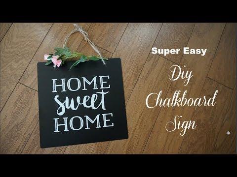 DIY CHALKBOARD SIGN | EASY FARMHOUSE DIY | Momma from scratch