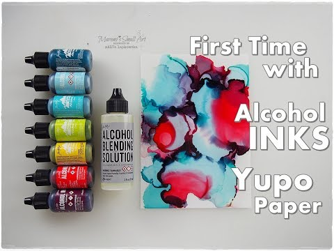 Beginners First Time using Alcohol INKS on Yupo Paper, Blending Solution ♡ Maremi's Small Art ♡