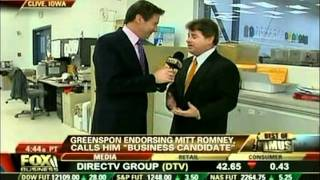 FOX Business News with Jeff Flock - David Greenspon Endorses Mitt Romney as the Business Candidate