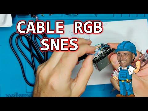Reparando un cable de Snes   Conexionado RGB supernintendo