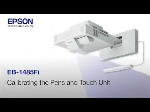 Epson EB-1485Fi Projector Installation Guide #9 - Calibrating the Projector