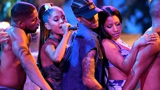 "Ariana Grande & Nicki Minaj Give SEXIEST ""Side To Side"" Performance At 2016 AMAs"