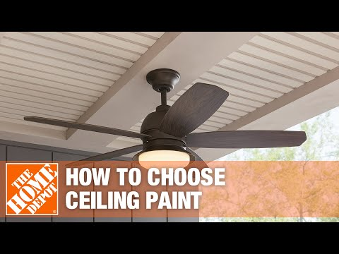 A video about how to choose ceiling paint.