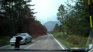 Spettacolare rientro in macchina,direzione Erto.