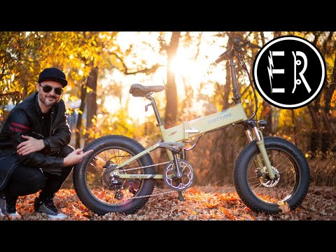 28 MPH FULL SUSPENSION fat tire folder! Rattan Fat Bear Plus electric bike review + GIVEAWAY RESULTS