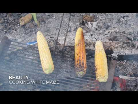 Beauty talks about cooking white maize