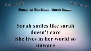 Panic! At The Disco - Sarah Smiles (Letra)