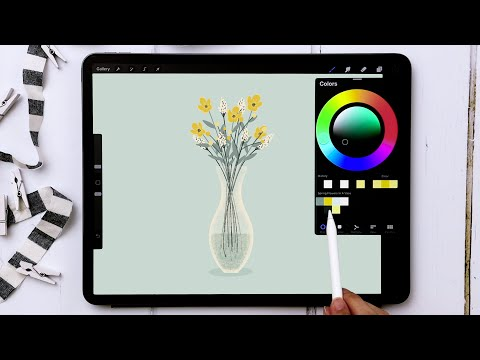 Draw a Vase of Spring Flowers in Procreate