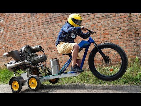 Велосипед с Вертолетным двигателем photo